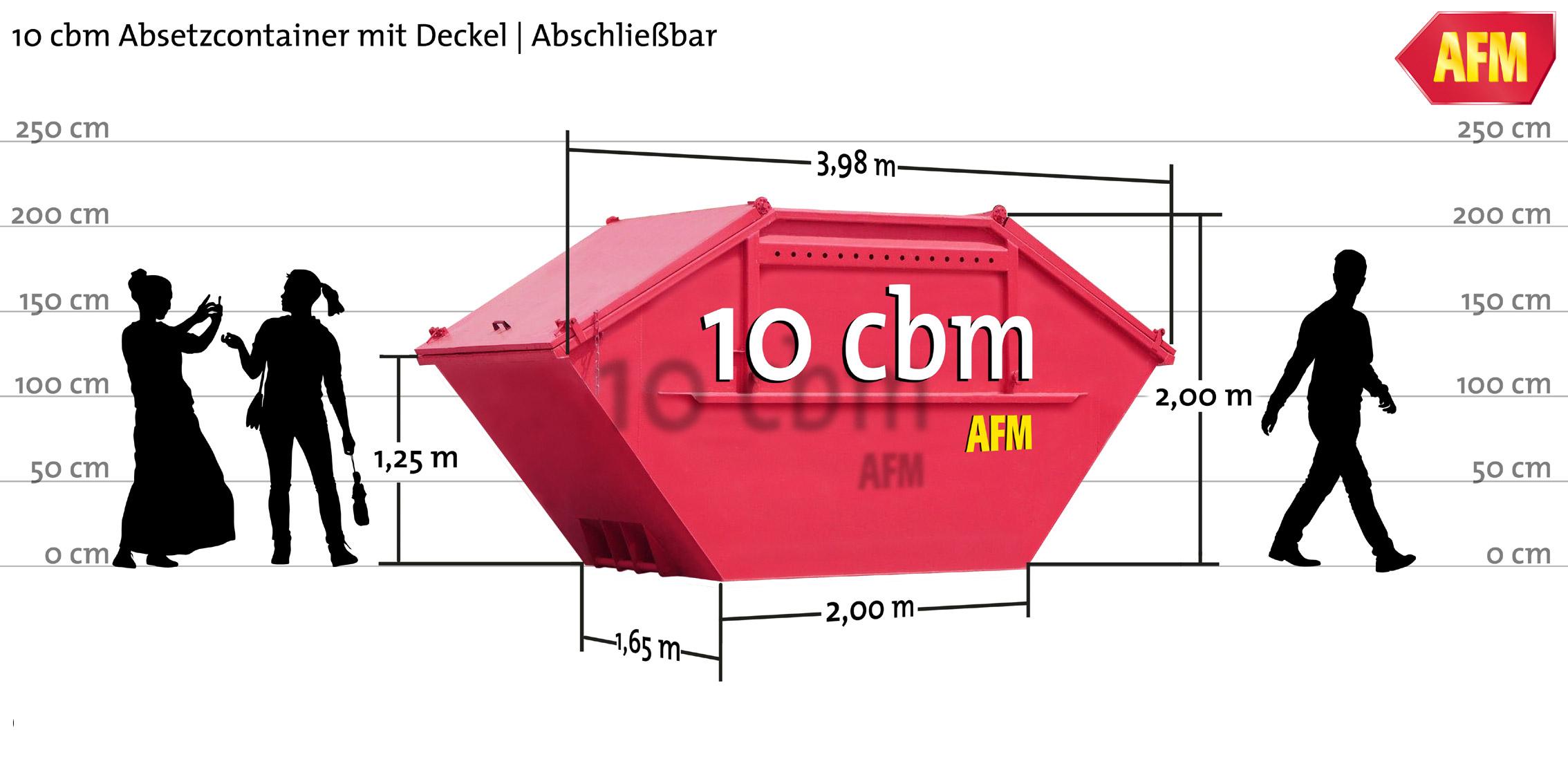 Absetz-Container mit Deckel 10cbm