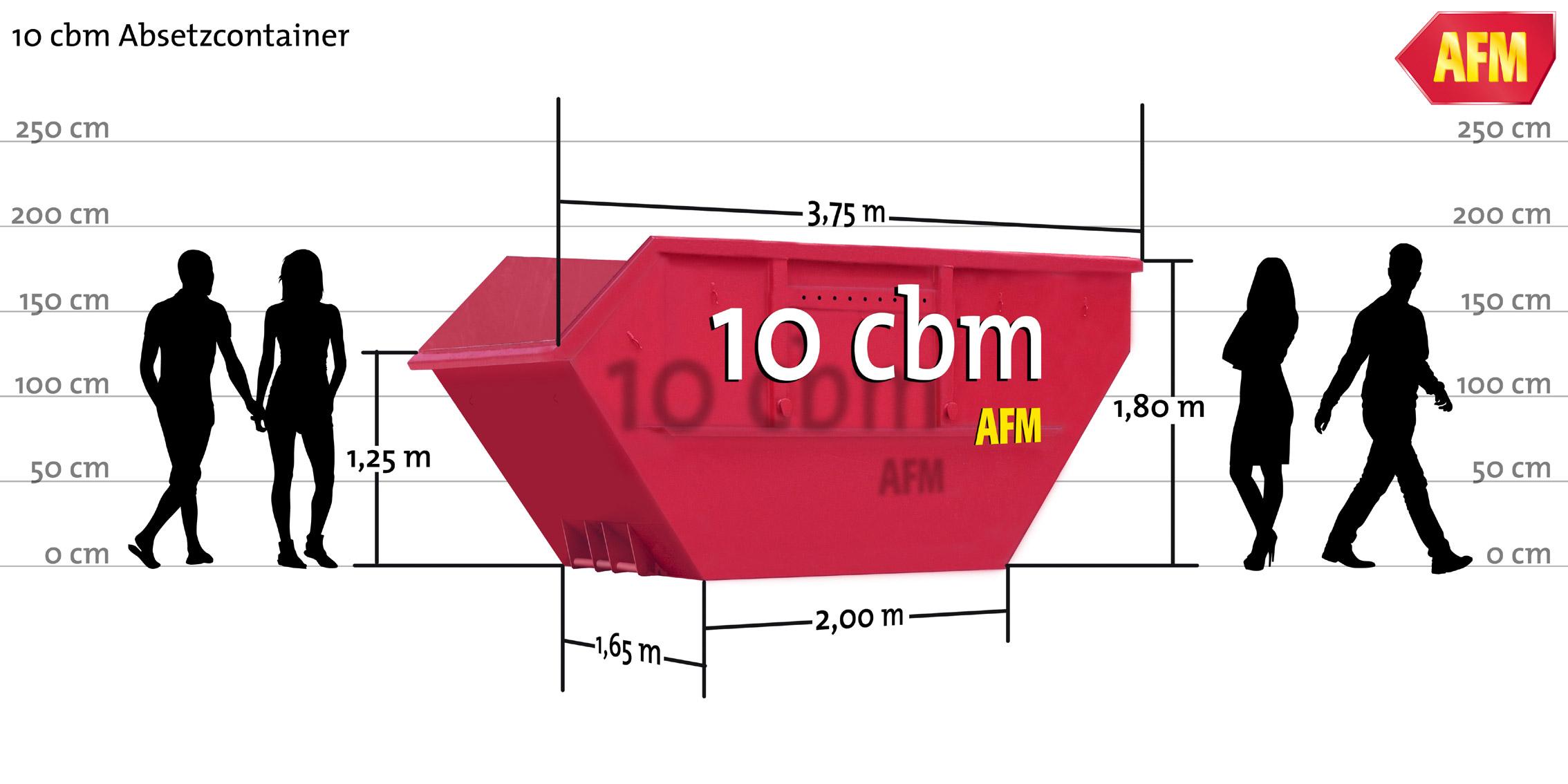 Absetz-Container offen 10bm