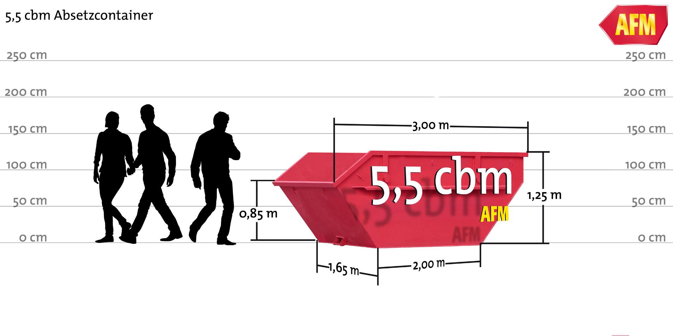 Absetz-Container offen 5cbm
