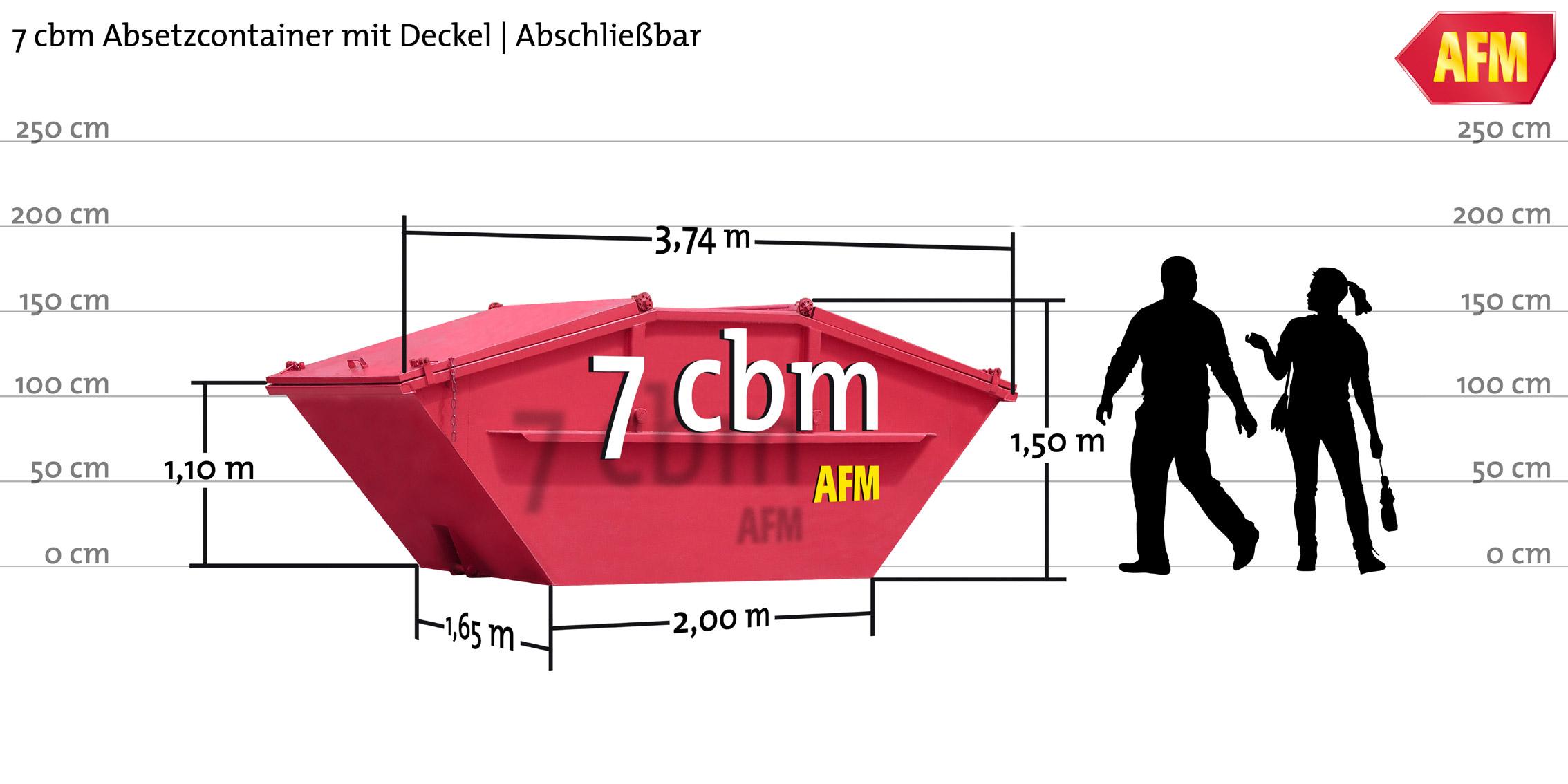 Absetz-Container mit Deckel 7cbm
