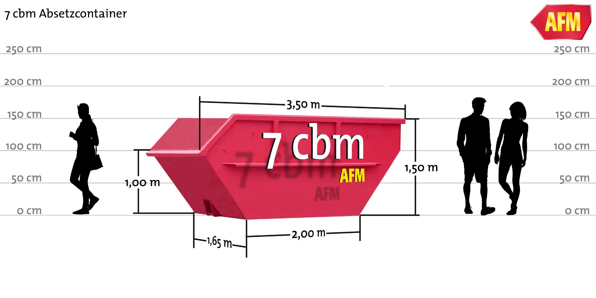 Absetz-Container offen 7cbm