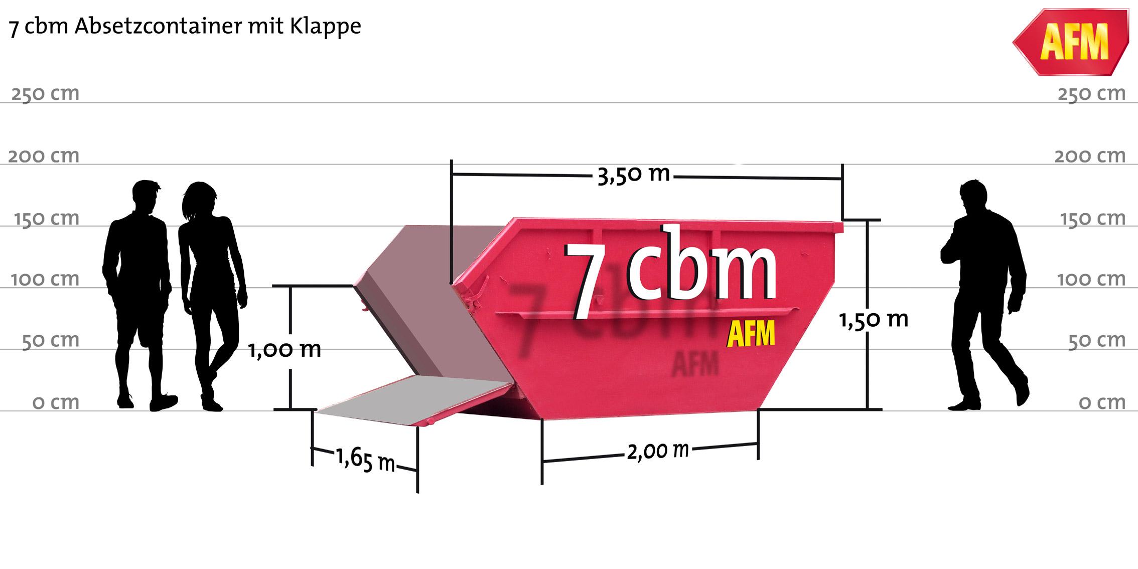 Absetz-Container mit Klappe 7cbm